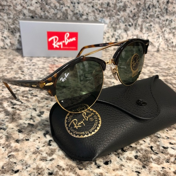 f64d0693b5c Ray Ban Clubround Clubmaster Sunglasses NEW